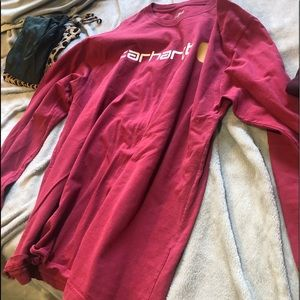 XL carhartt Red long sleeve used